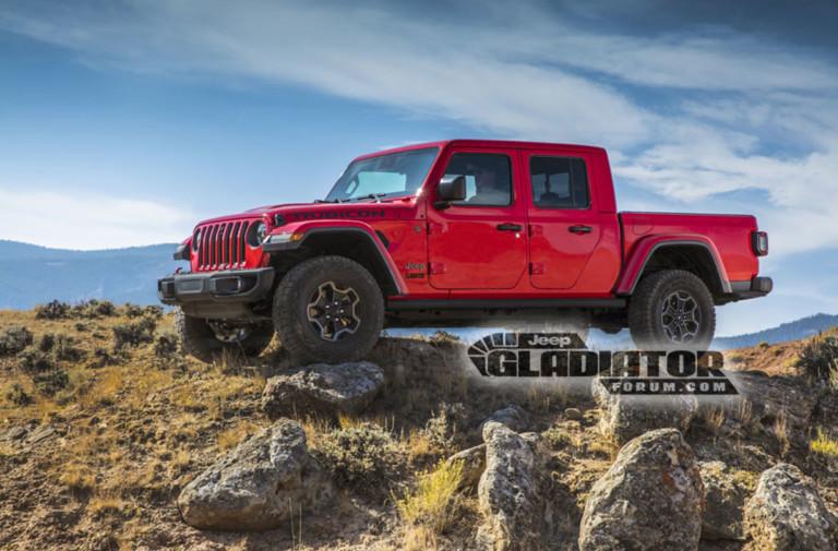 Jeep 'Gladiator' Found Undisguised on FCA Media Website