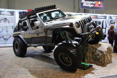 SEMA 2018: Black Diamond By Superlift's Radical Wrangler Build