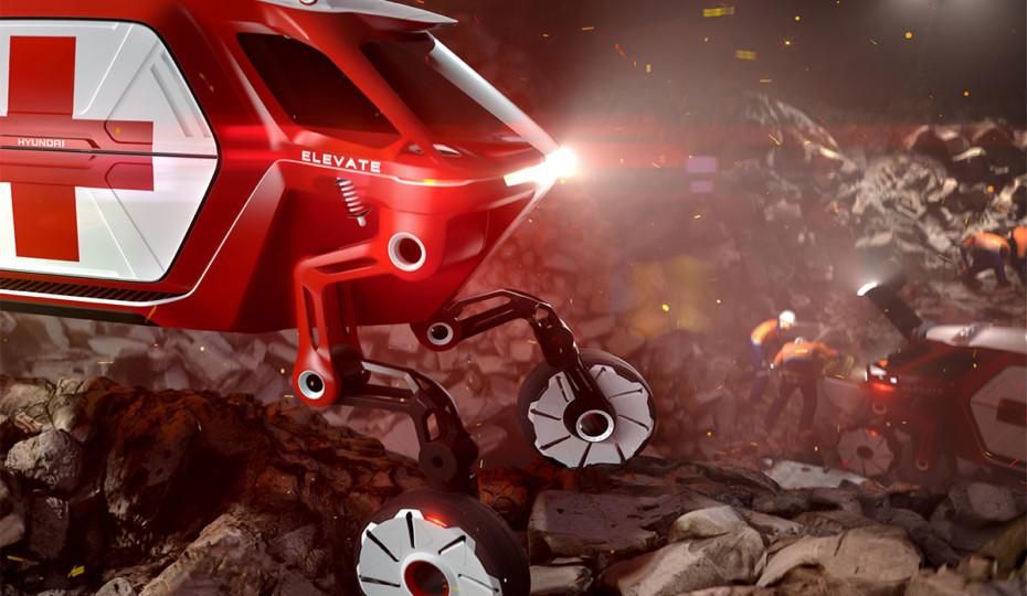 "Hyundai's ""Elevate"" Concept Unveiled At CES 2019"