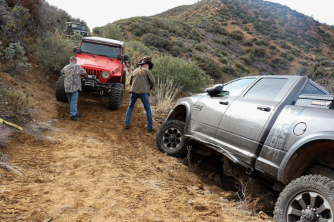 Crisis Averted: Off-Road Heroes Save Truck From Tumbling Down Cliff