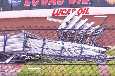 Video: Lucas Oil Speedway In Missouri Hit Hard By Storm