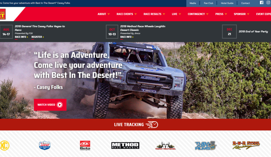 Best In The Desert Launches New Website With Live Tracking