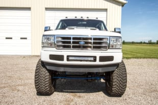 Douglas Strimpel's 1996 F-350 Texas Truck Goes Big In The Midwest
