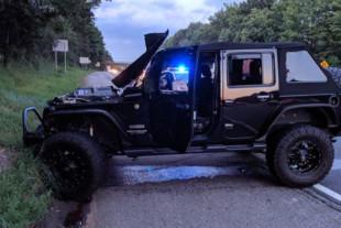 Video: Runaway Tire Demolishes Jeep Wrangler On Highway