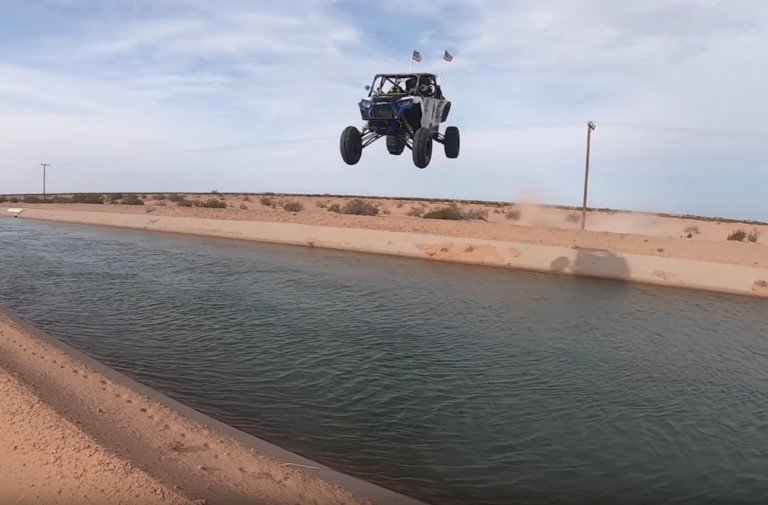 Video: Ten-Year-Old Lands The First Glamis Canal Jump In A SXS