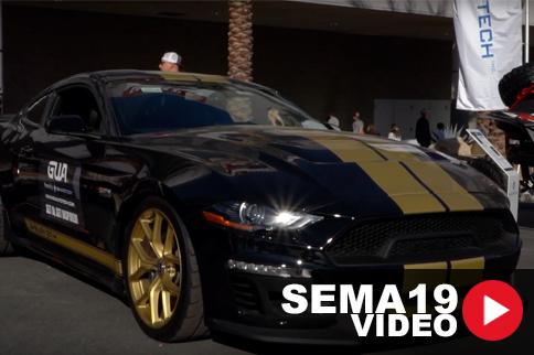 SEMA 2019: GU Auto Tech Brings A Big Touch Screen To The Mustang