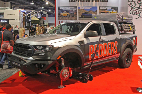 SEMA 2019: Pedders Suspension Debuts Ford Ranger Shock, Brake Kits