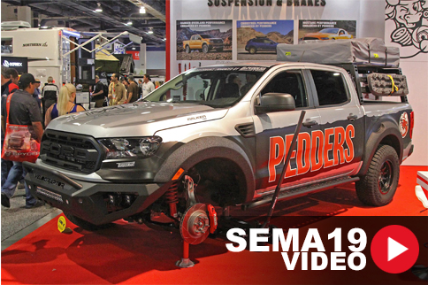 SEMA 2019: Pedders Suspension Debuts Ford Ranger Shock, Brake Kits
