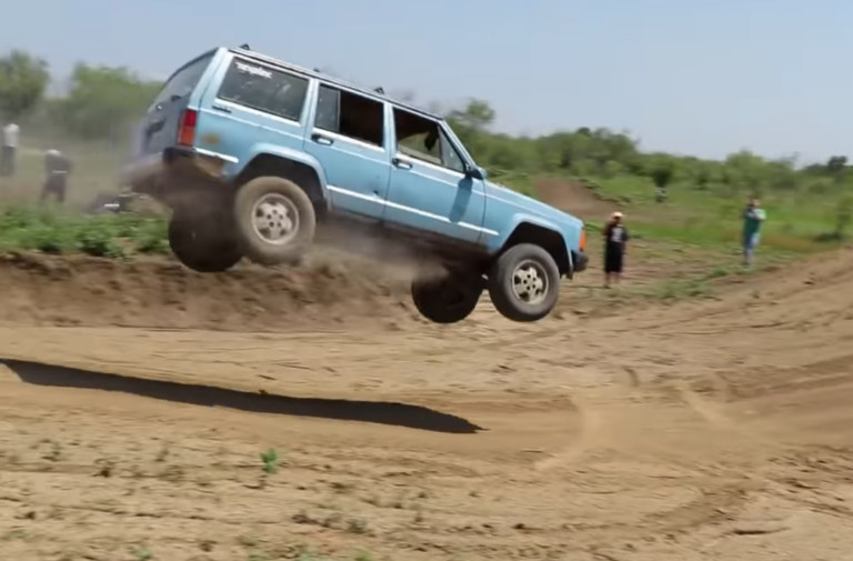 Video: Novice Garage Sends A $700 Cherokee Soaring