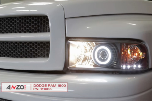 Video: AnzoUSA 1994-2002 Dodge Ram Truck Projector Headlight Install