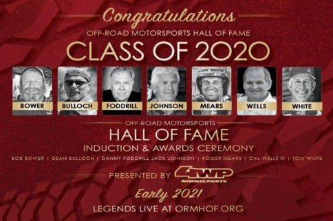 2020 Off-Road Motorsports Hall Of Fame Inductees Announced