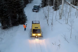 Video: Snow Cat Comes To The Rescue