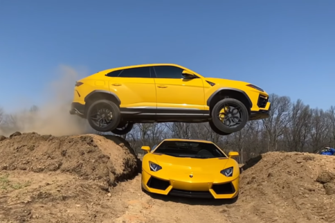 After TRX, YouTuber Jumps His Lamborghini Urus Over His Aventador