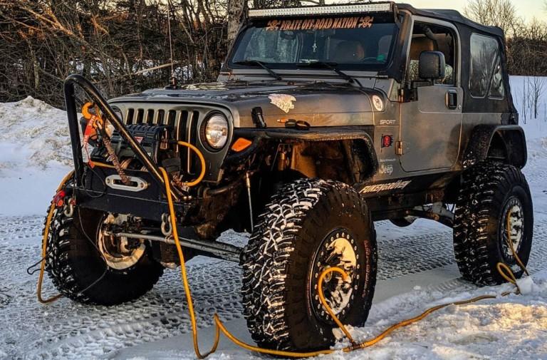 """Video: 2003 Jeep Wrangler X """"Pirateship"""" Takes On Snow"""