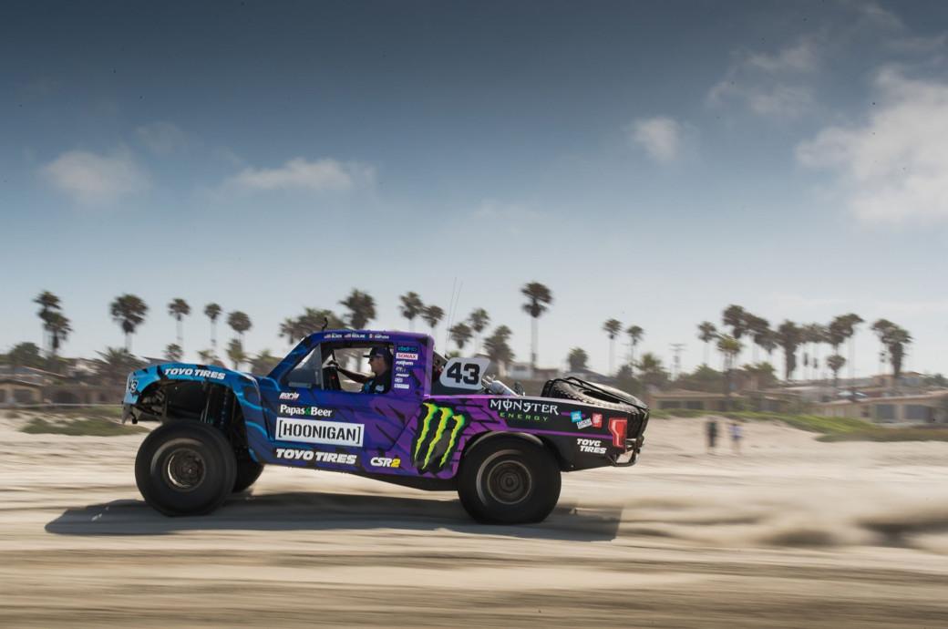 Ken Block's 1,100HP Hoonigan Trophy Truck Revealed At A Beach Party