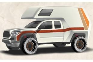 Toyota Tacoma Tacozilla Retro Camper Vehicle Unveiled
